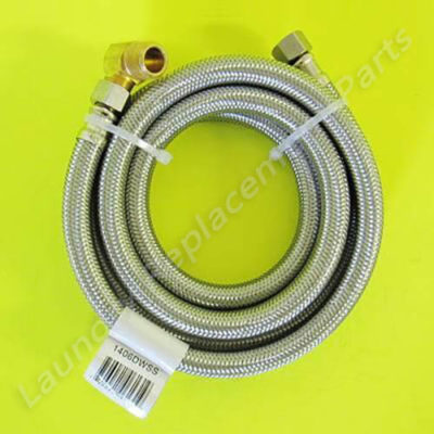 "3/8 Comp x 3/8 Comp x 72"" W/Elbow Stainless Steel Dishwasher Hose Part# 1406DWSS"""