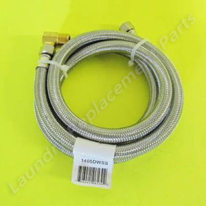 "3/8 Comp x 3/8 Comp x 60"" W/Elbow Stainless Steel Dishwasher Hose Part# 1405DWSS"