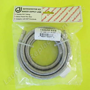 """1/4 COMP x 72"""" IM Stainless Steel Hose For Refrigerator Part# 1406RFSSB"""