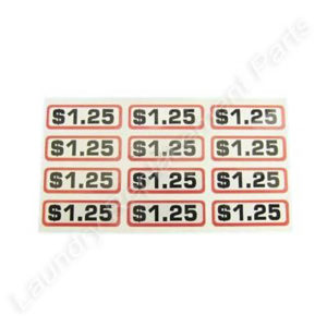 Decals Coin Slide $1.25 per dozen, Part # 9104-24